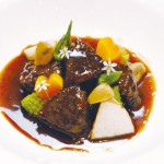 鹿肉の赤ワイン風味のシチュー