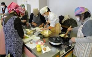 生徒料理様子