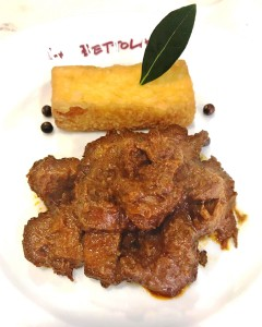 修正:信州産鹿肉のストゥファート ボレンタ添え
